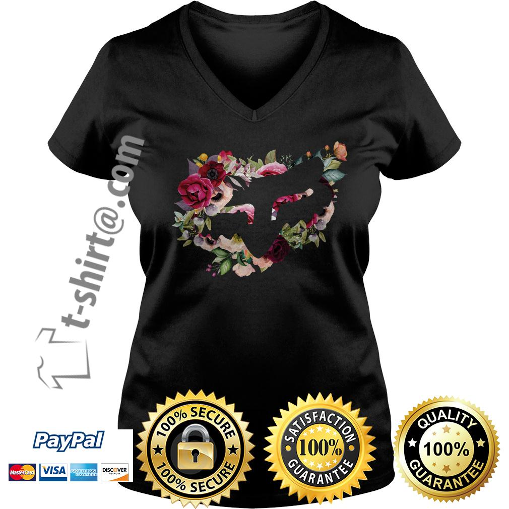 Official Fox flower V-neck T-shirt