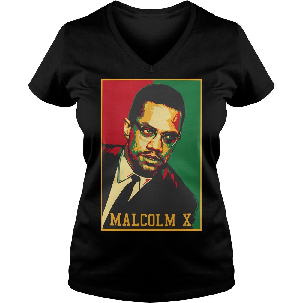 Official Malcolm X V-neck T-shirt