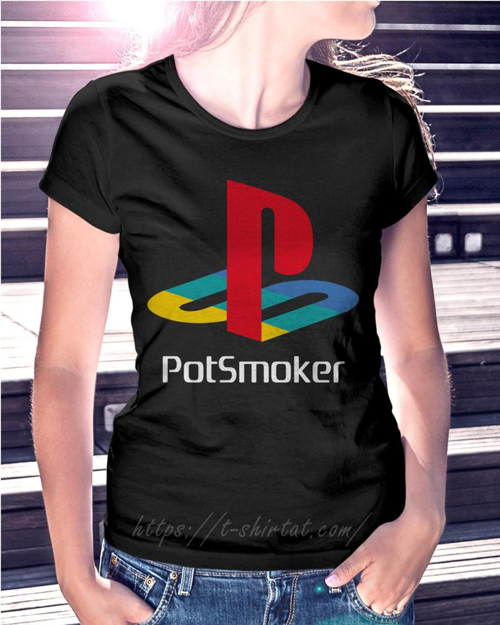 Official Pot smoker Ladies Tee