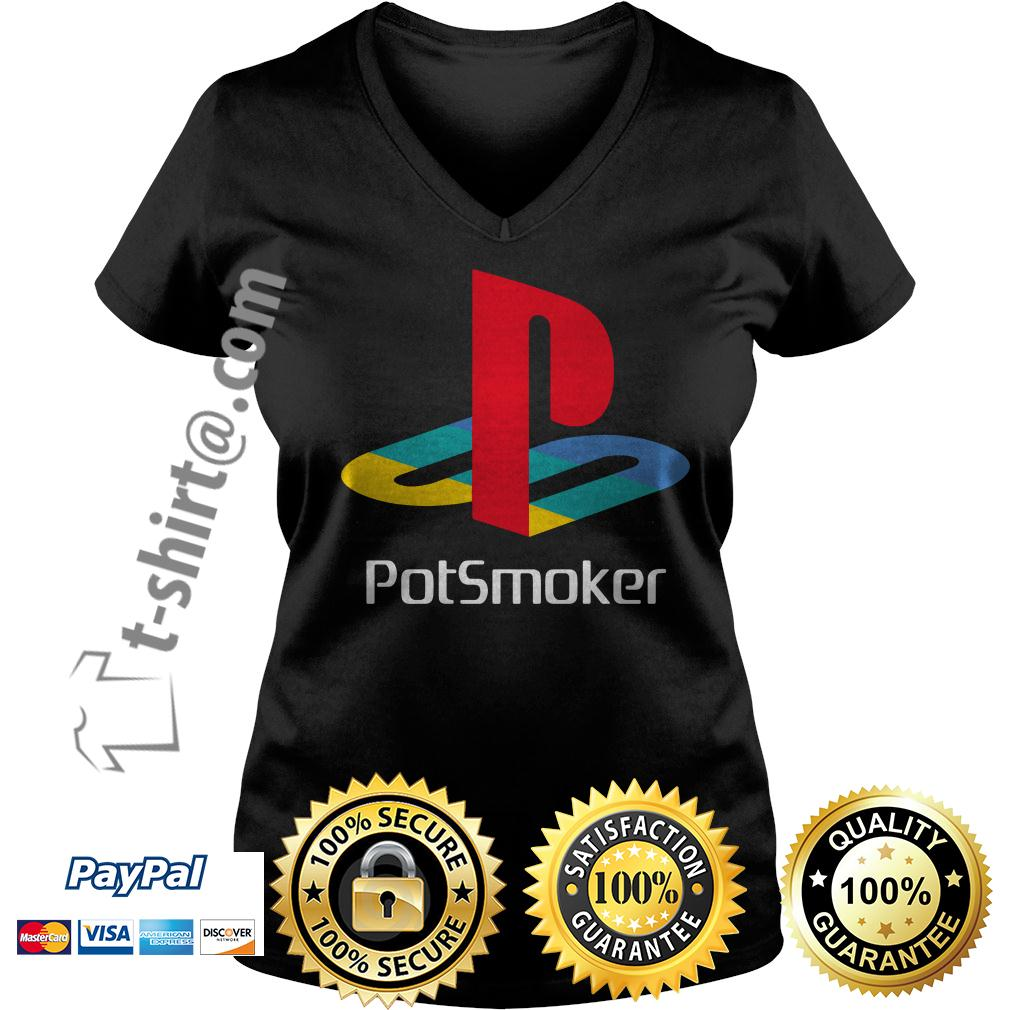 Official Pot smoker V-neck T-shirt