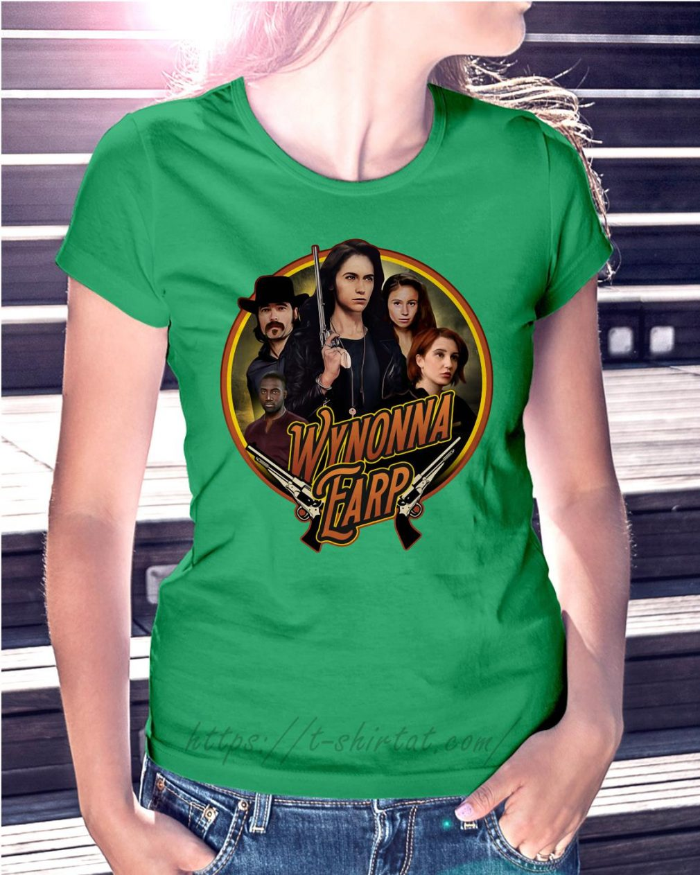 Official Wynonna Earp Ladies Tee green