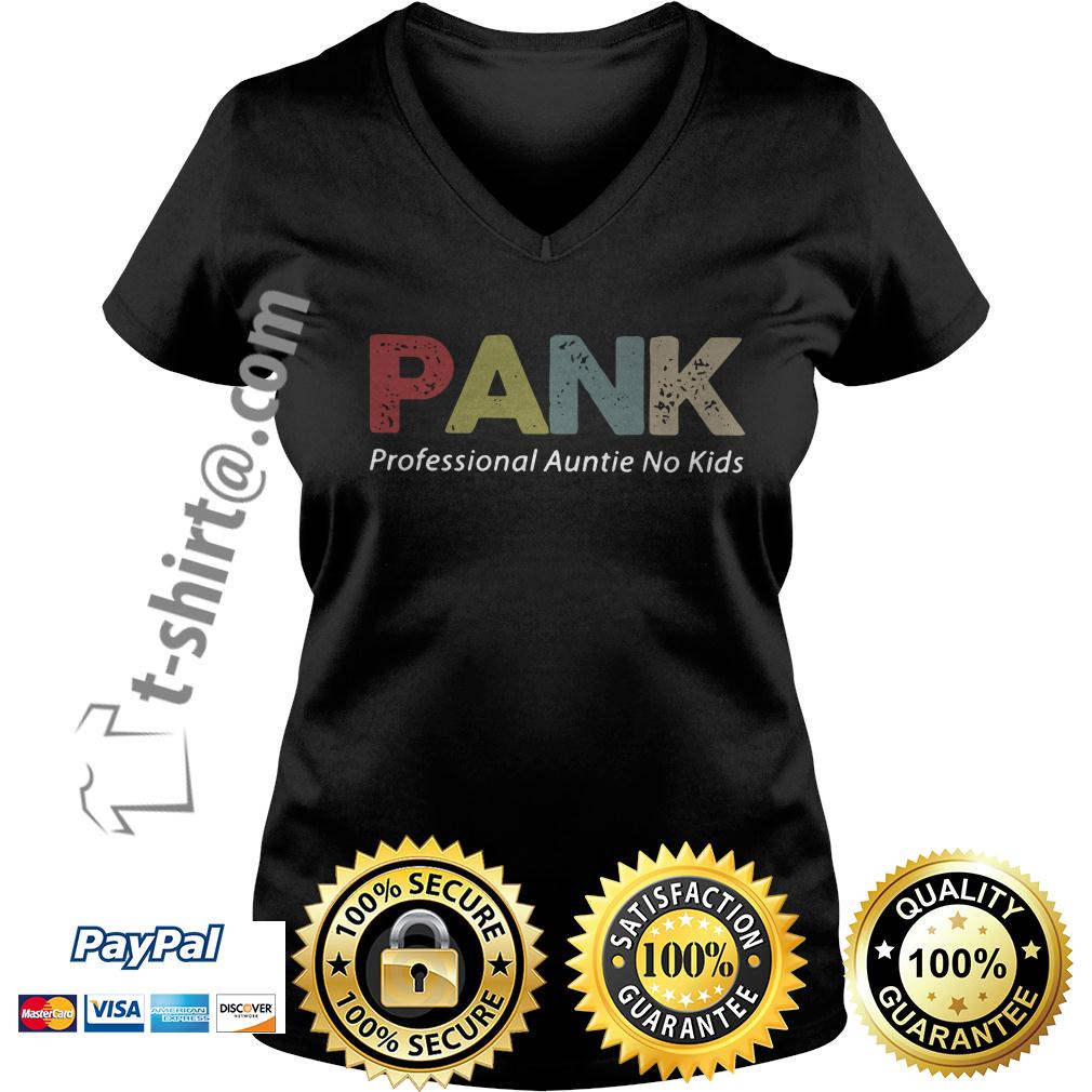 Pank professional auntie no kids V-neck T-shirt