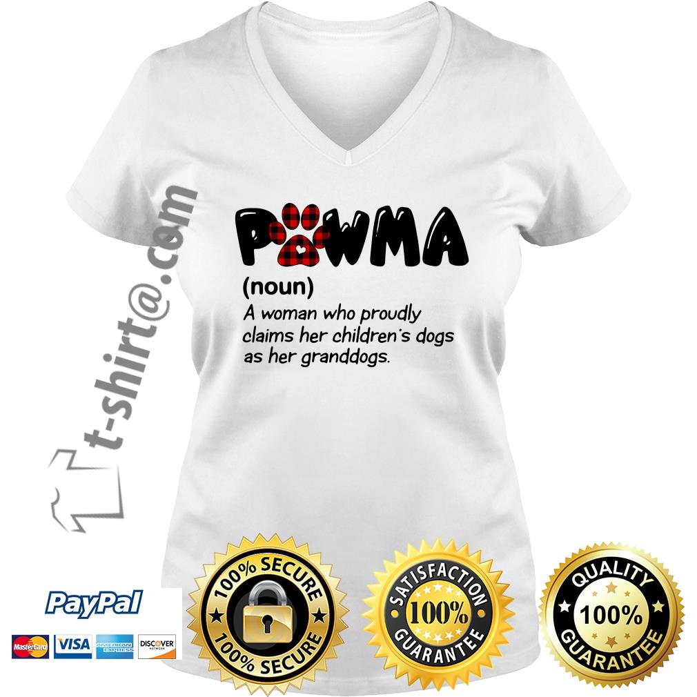 Pawma a woman who proudly claims her children's dogs as her granddogs V-neck T-shirt