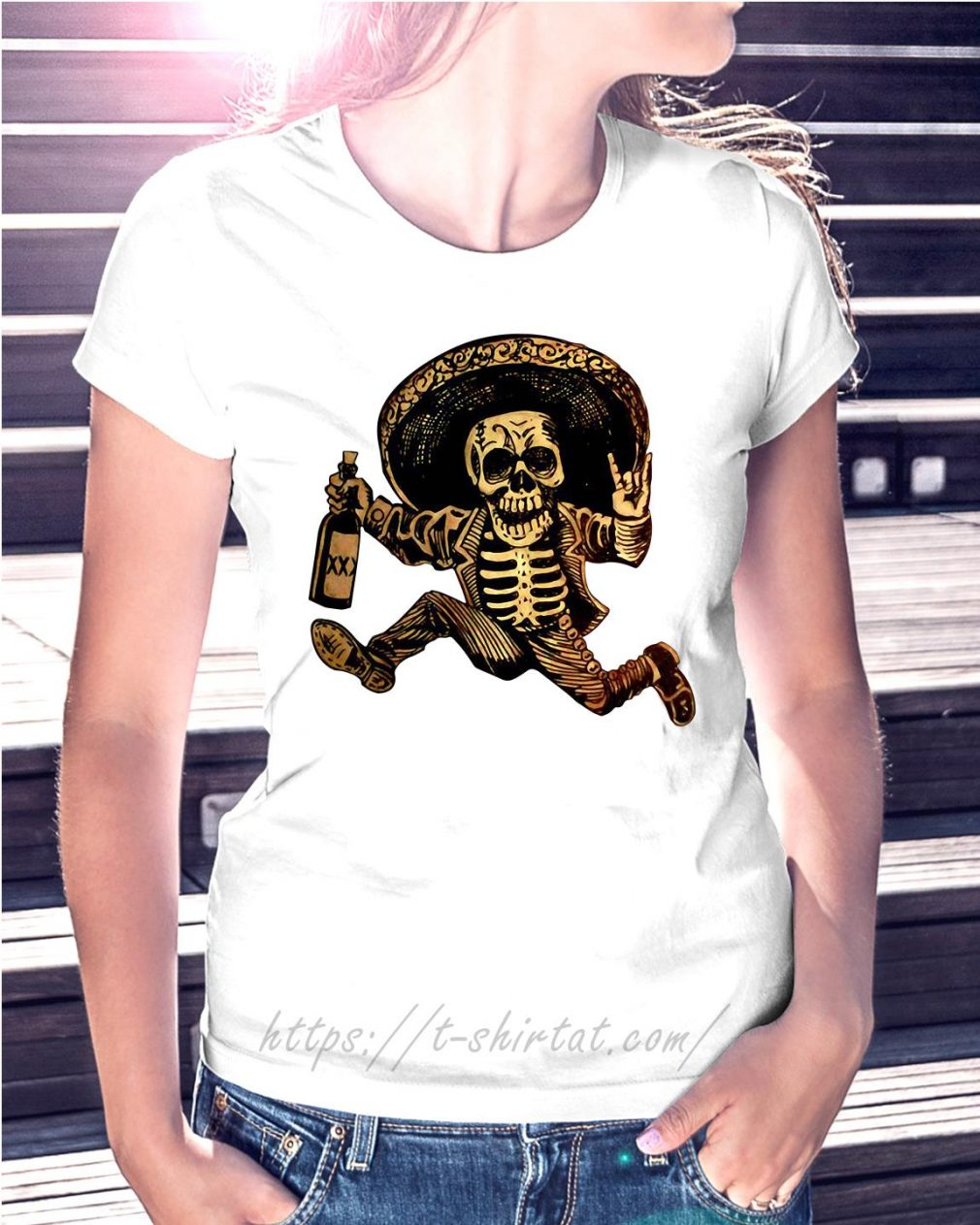 Posada day of the Dead Outlaw Ladies Tee