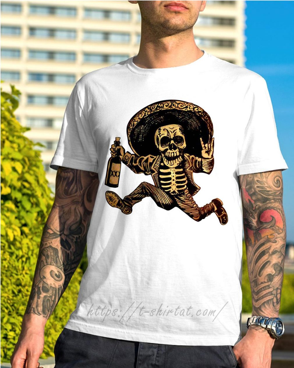 Posada day of the Dead Outlaw shirt
