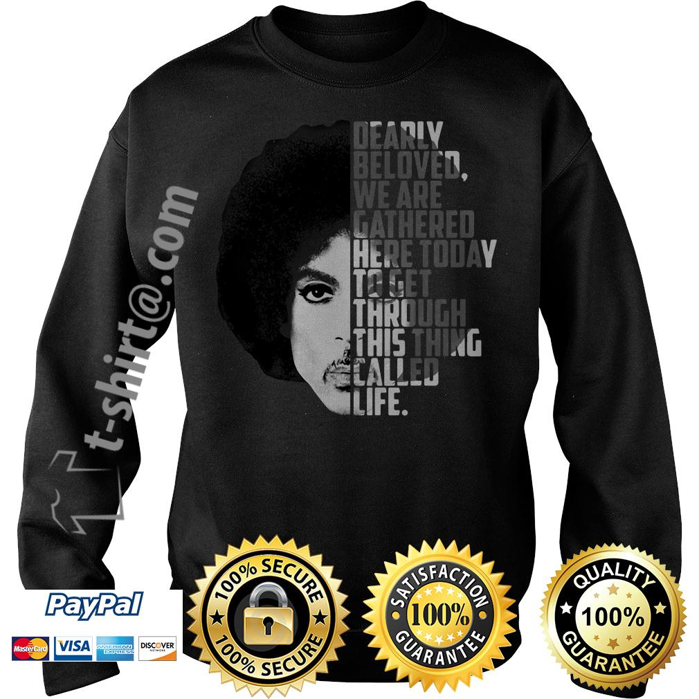 Prince Rogers Nelson dearly beloved we are gathered here today Sweater
