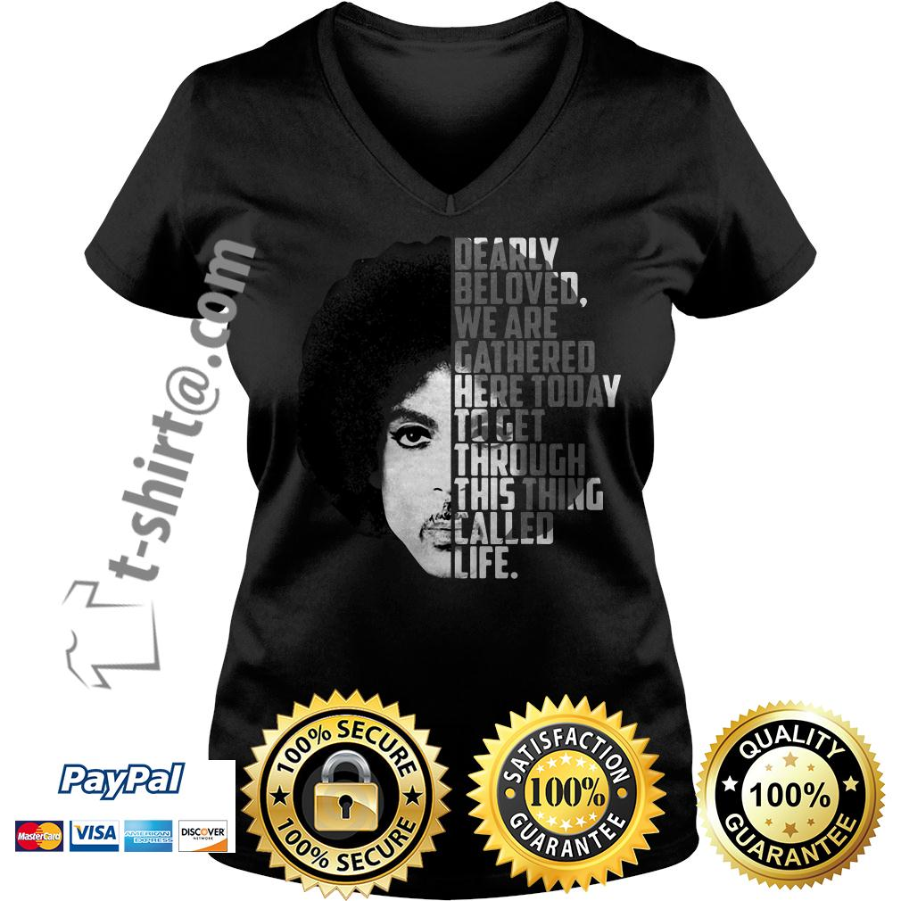 Prince Rogers Nelson dearly beloved we are gathered here today V-neck T-shirt