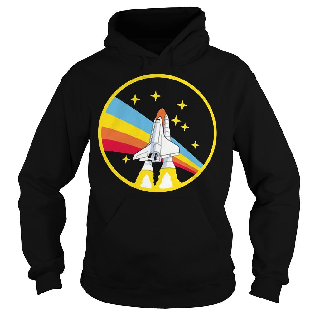 Rainbow rocket spaceship Hoodie