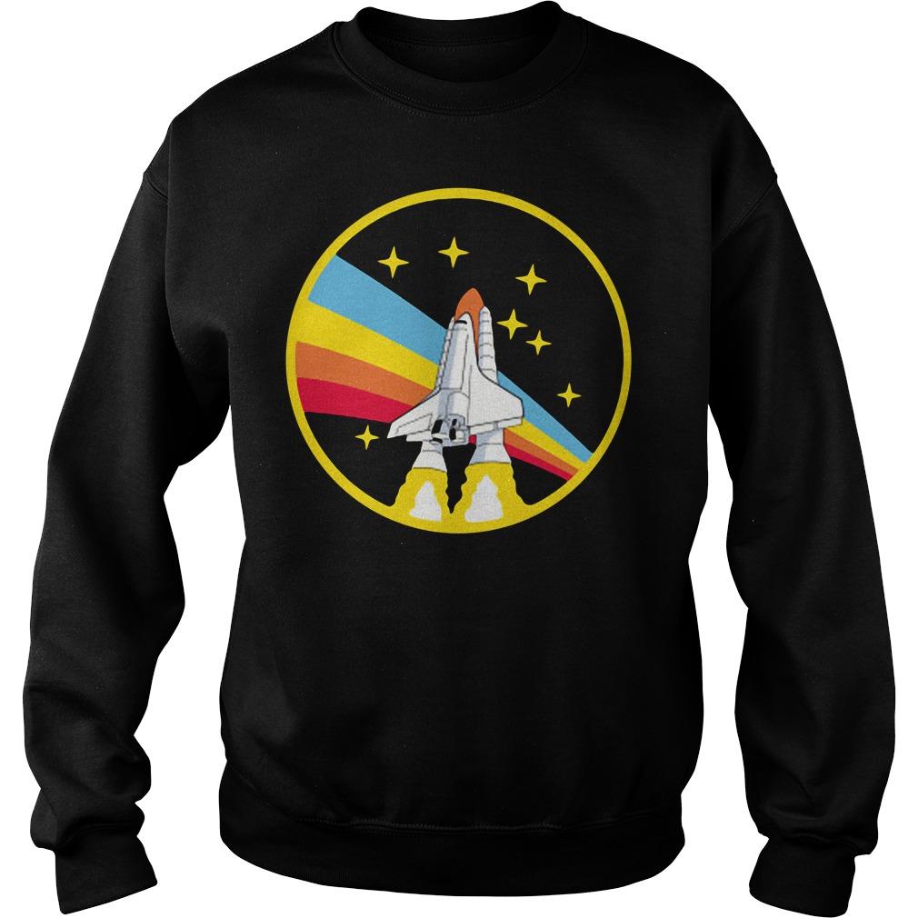 Rainbow rocket spaceship Sweater