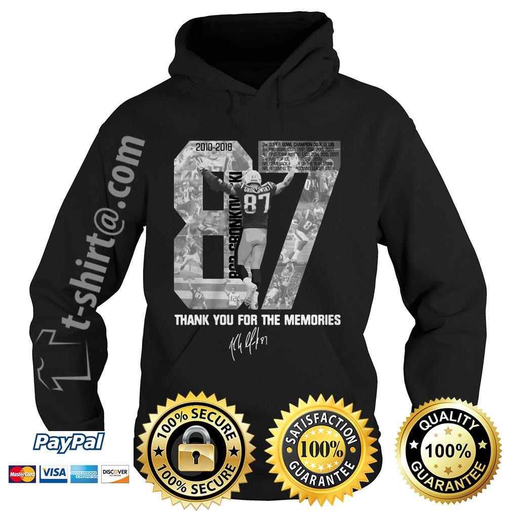 Rob Gronkowski 87 thank you for the memories signature Hoodie