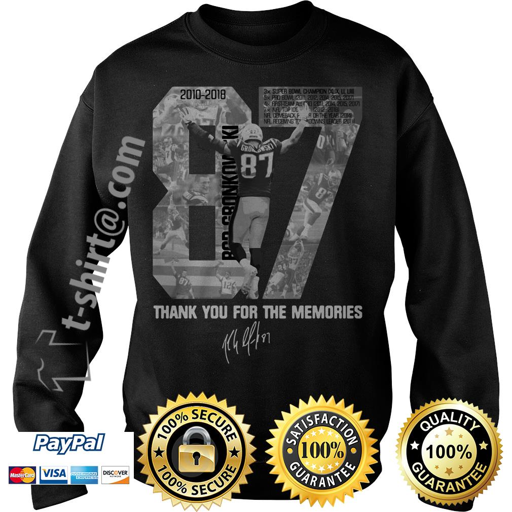Rob Gronkowski 87 thank you for the memories signature Sweater