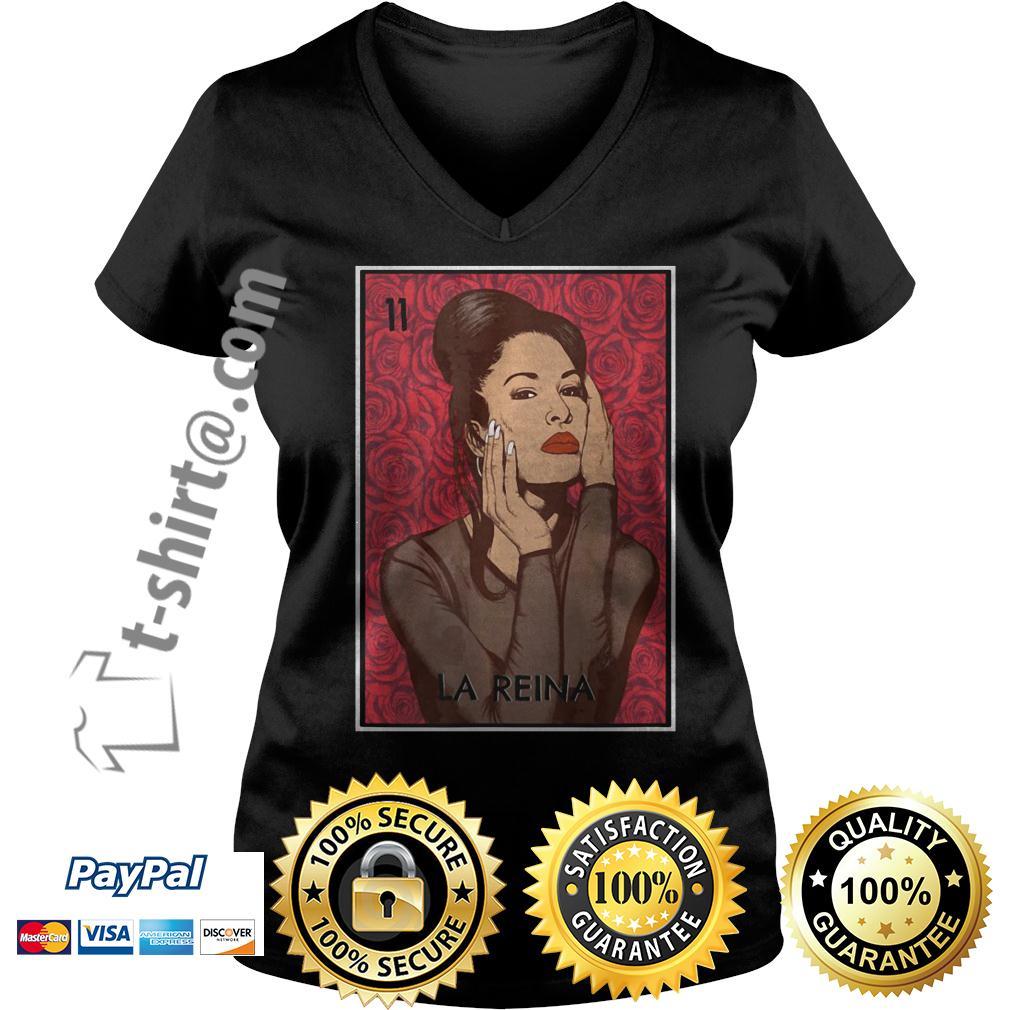 Selena Quintanilla La Reina V-neck T-shirt