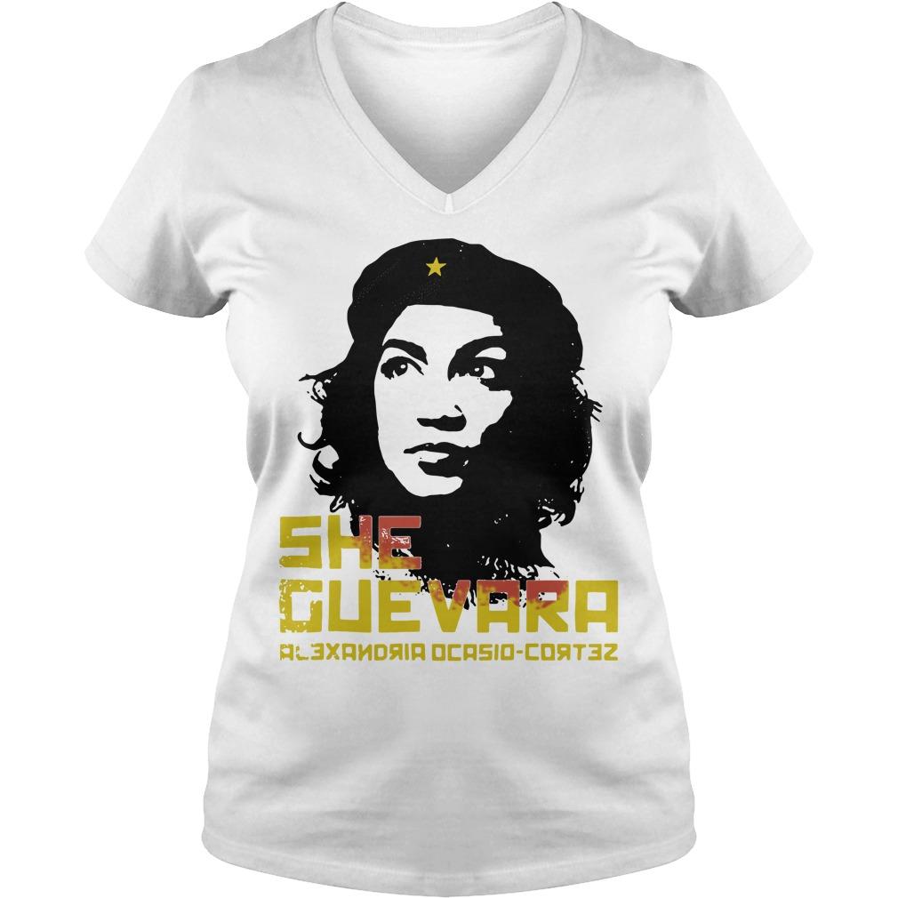 She Guevara Alexandria Ocasio Cortez V-neck T-shirt
