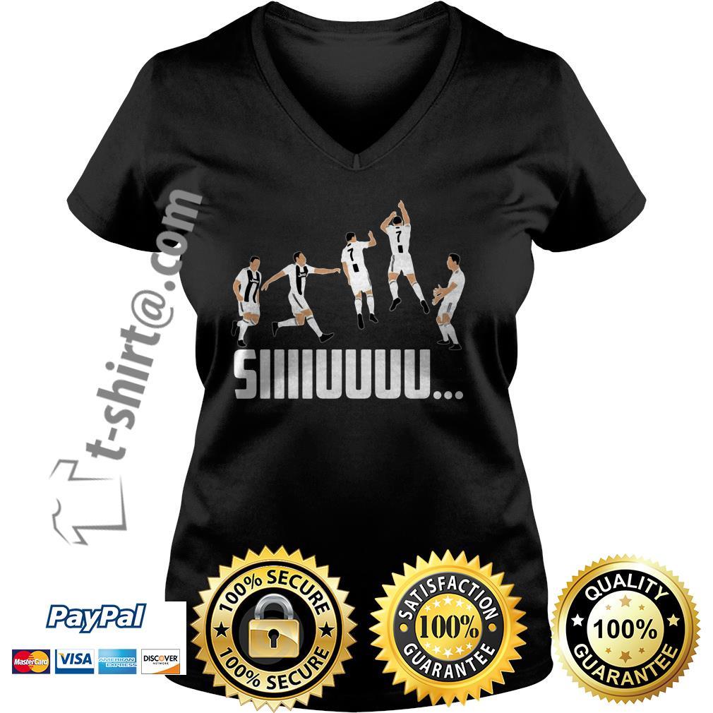 SIIIIUUUU jump CR7 Goal celebration V-neck T-shirt