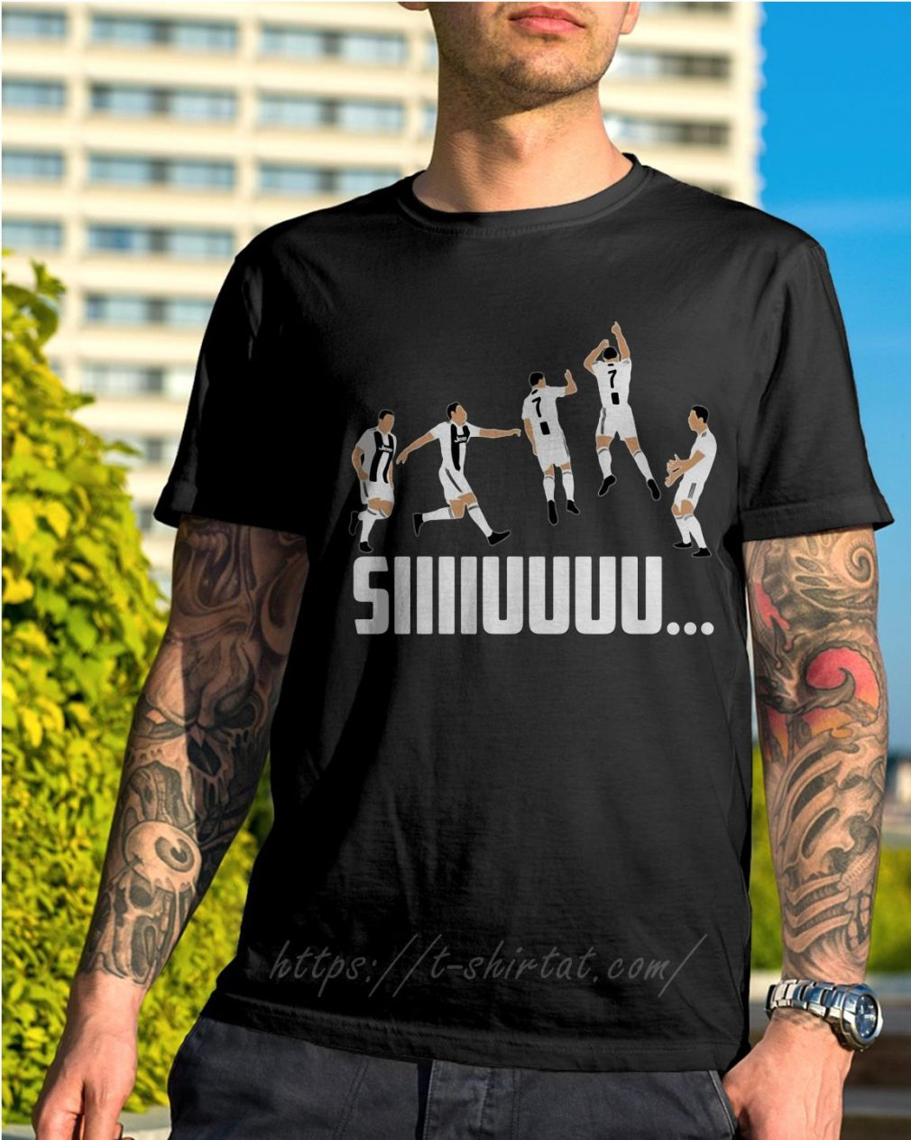 SIIIIUUUU jump CR7 Goal celebration shirt