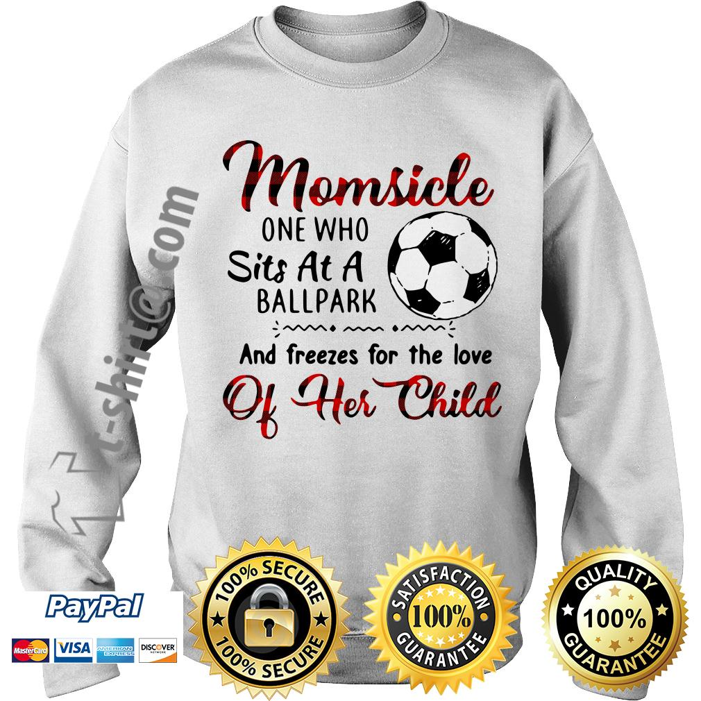 Soccer Momsicle one who sits at a ballpark and freezes for the love Sweater
