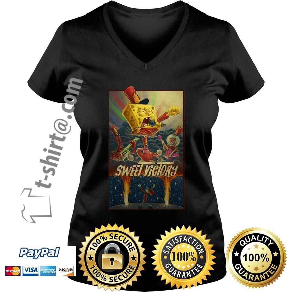 SpongeBob SquarePants sweet Victory V-neck T-shirt