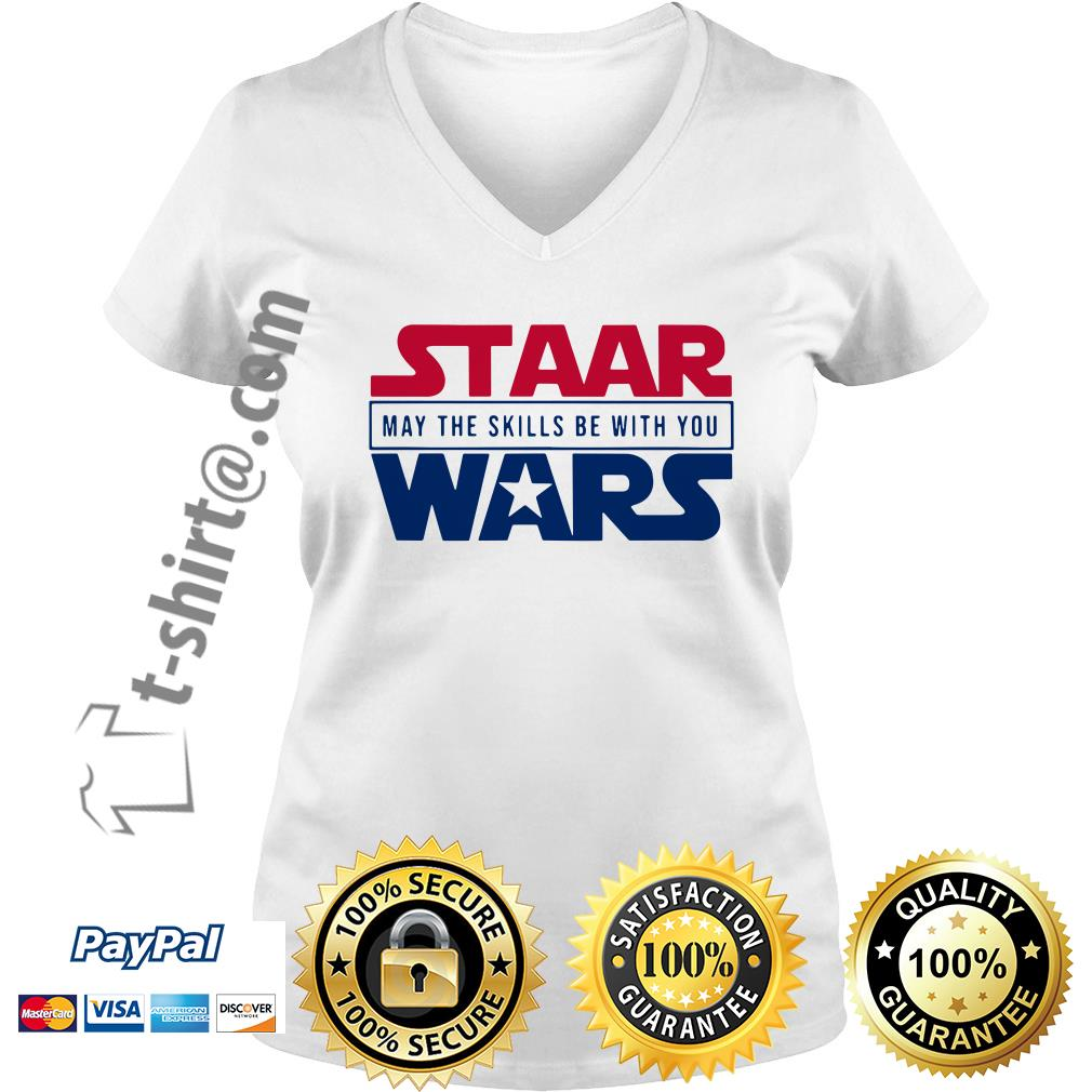 STAAR Wars may the skills be with you V-neck T-shirt
