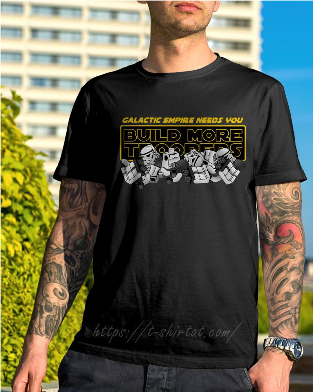 Star Wars stormtroopers galactic empire needs you build more troopers shirt