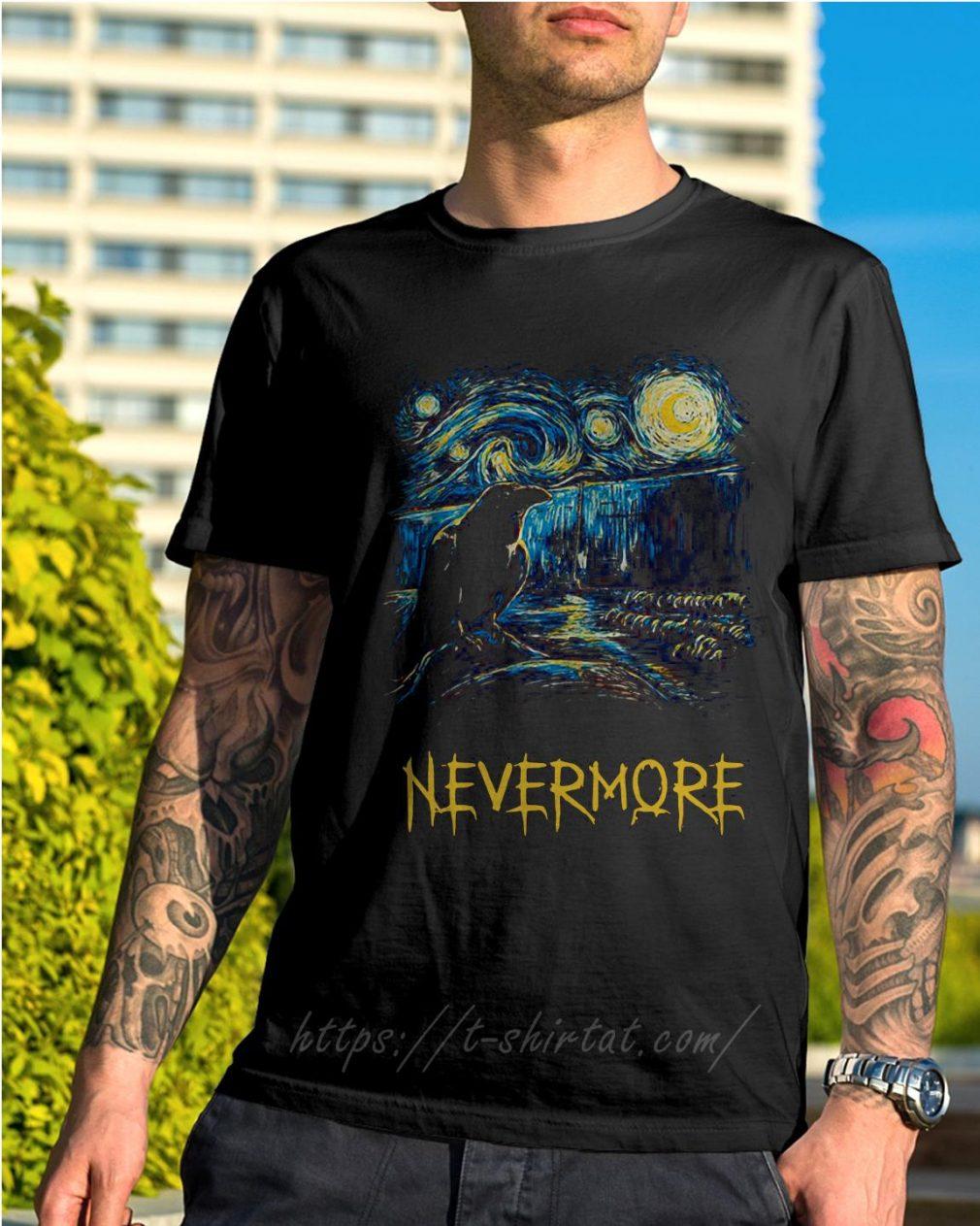 Starry fall Sherlock Van Gogh starry night nevermore shirt