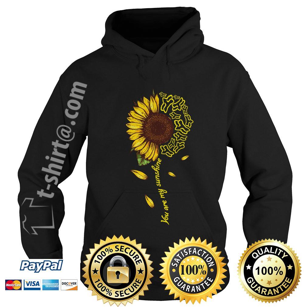 Sunflower Fox Racing you are my sunshine Hoodie