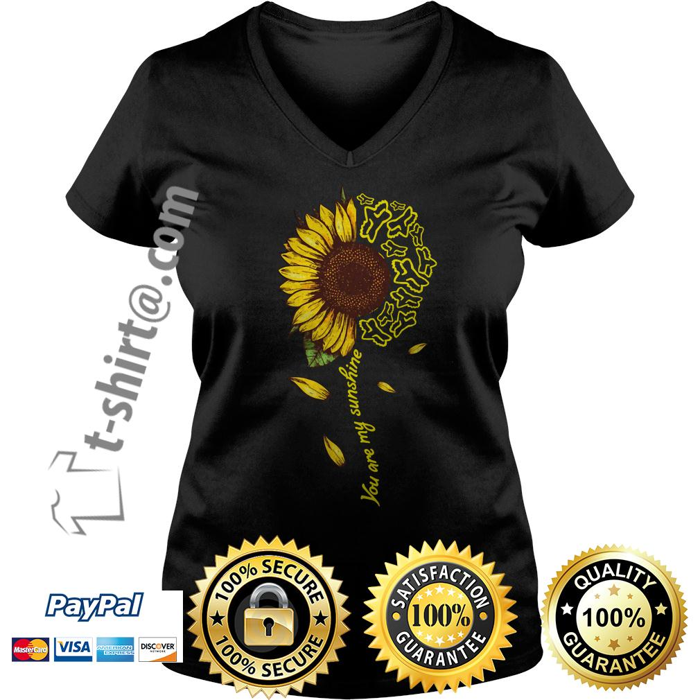 Sunflower Fox Racing you are my sunshine V-neck T-shirt