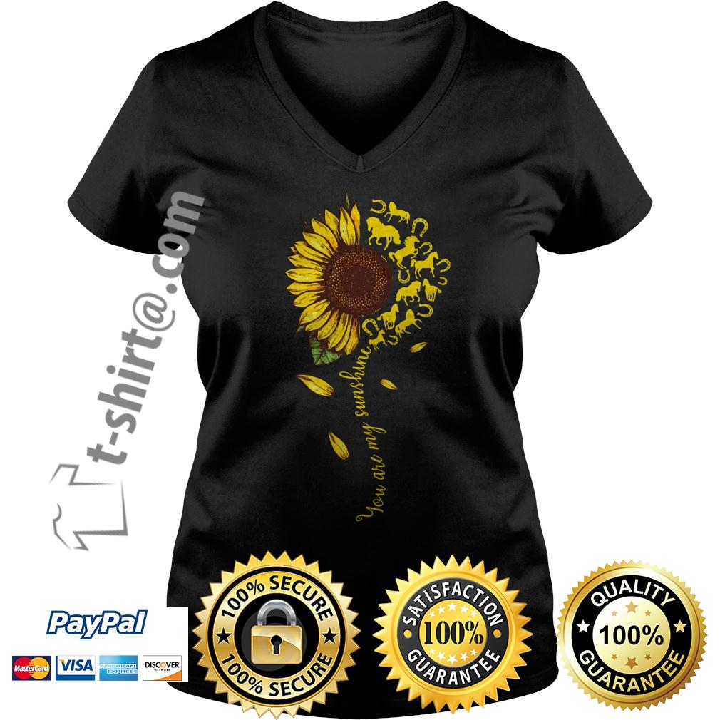 Sunflower horse you are my sunshine V-neck T-shirt