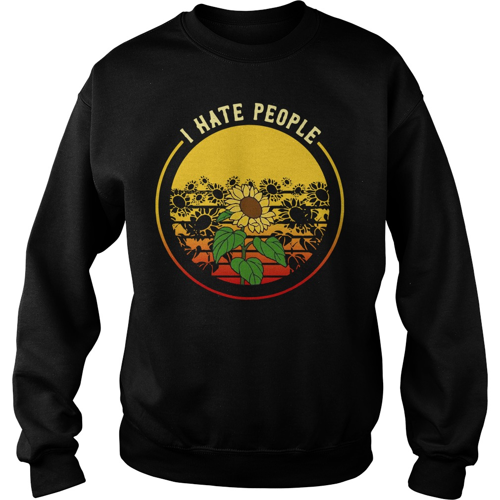 Sunflower I hate people sunset Sweater