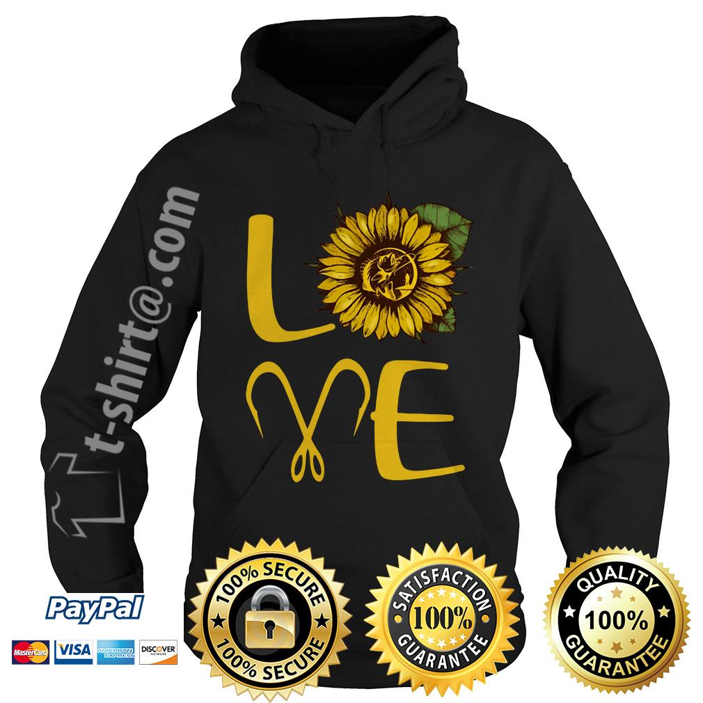 Sunflower love fishing hook Hoodie