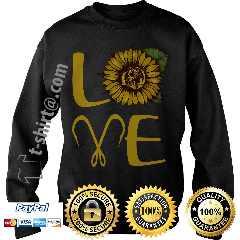 Sunflower love fishing hook Sweater