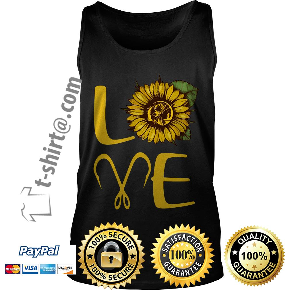 Sunflower love fishing hook Tank top