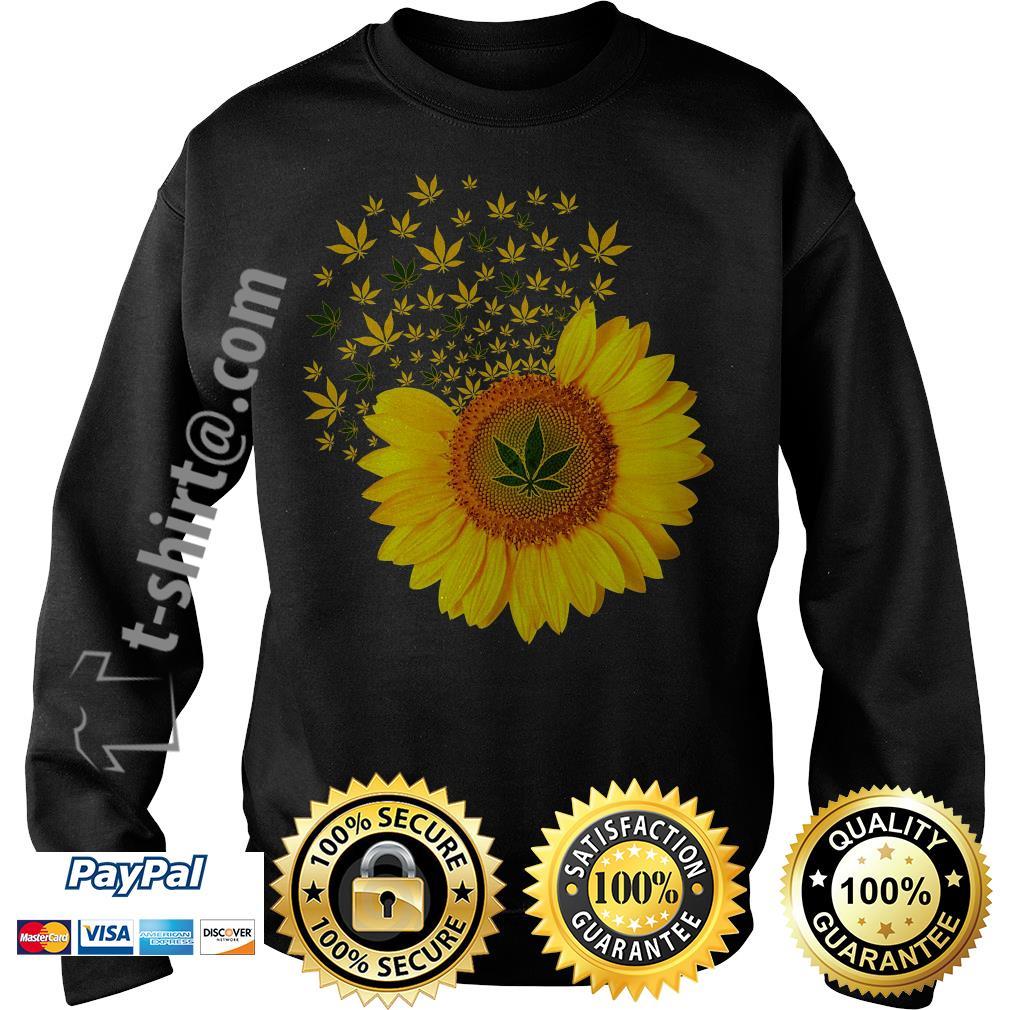 Sunflower Marijuana leaf weed Sweater