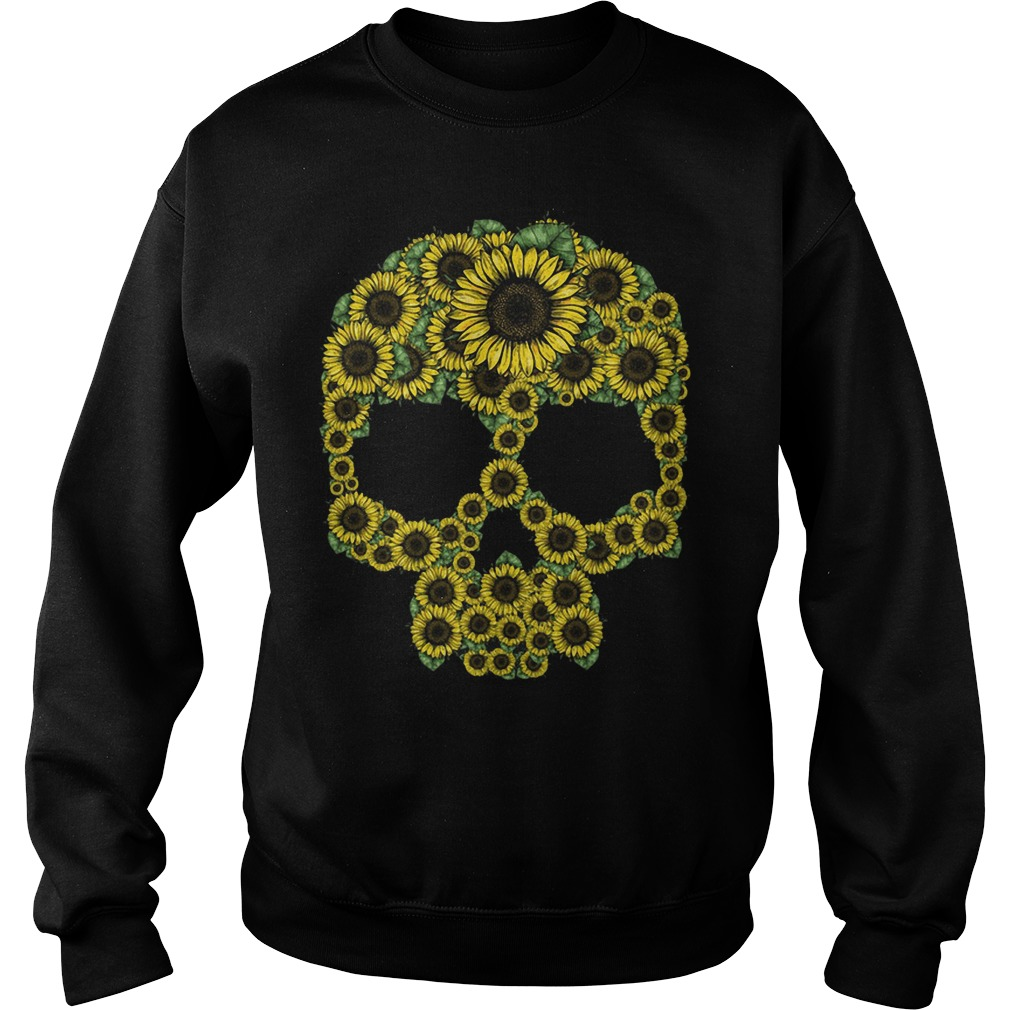 Sunflower skull Sweater