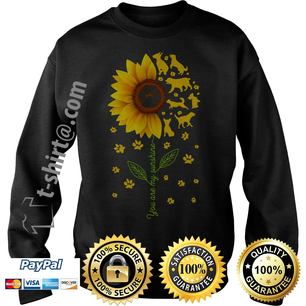 Sunflower you are my sunshine paws dogs Sweater