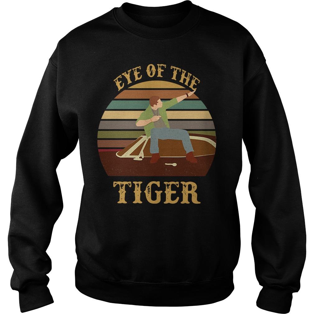 Supernatural dean eye of the tiger vintage sunset Sweater