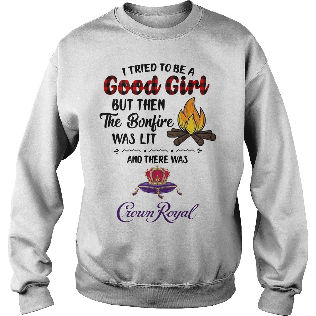 The bonfire was lit and there was Crown Royal Sweater