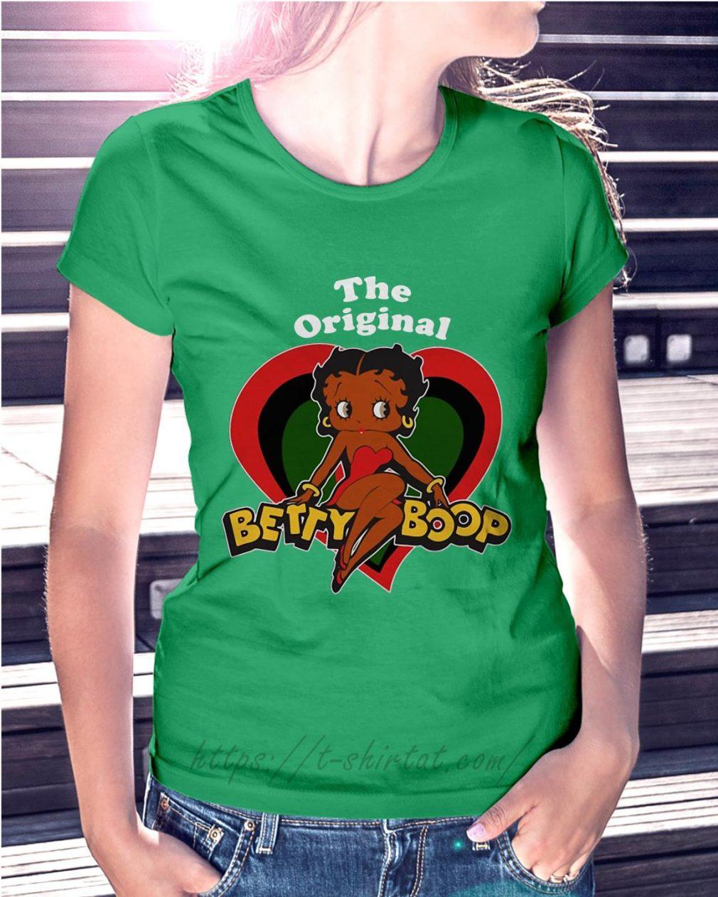 The Original Betty Boop Ladies Tee green