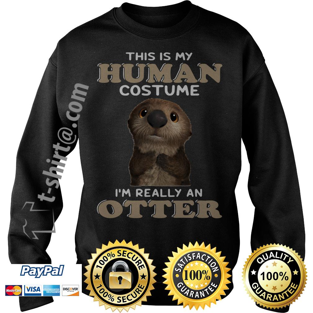 This is my human costume I'm really an Otter Sweater