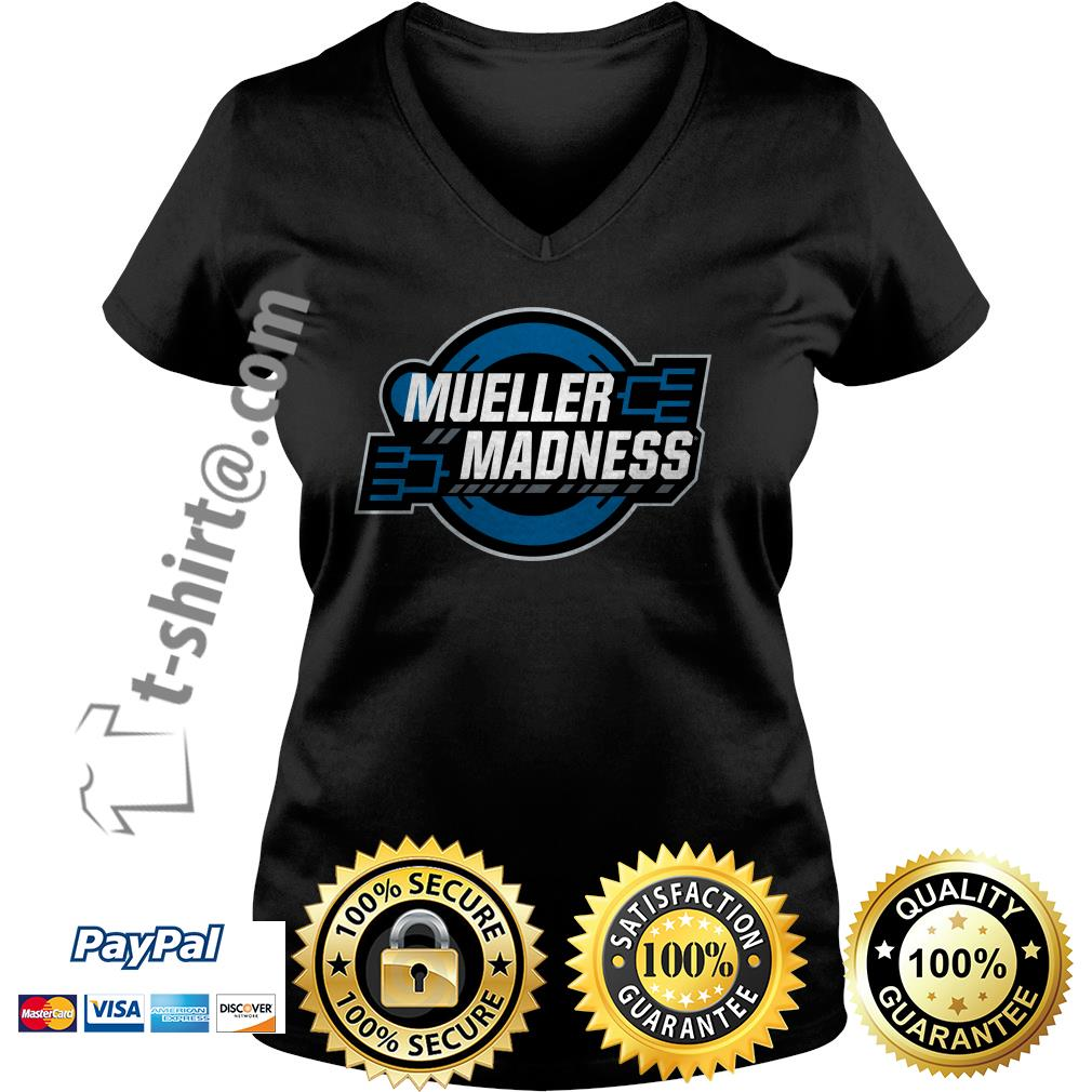 Trump and Mueller Madness Parody V-neck T-shirt