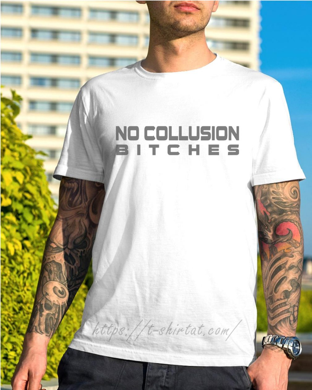 Trump and Mueller no collusion bitches shirt