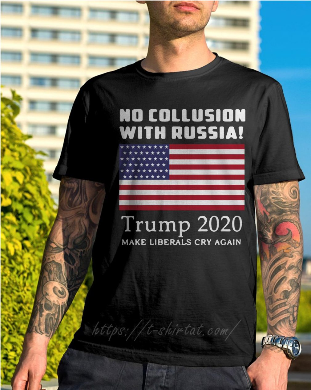 Trump and Mueller no collusion with Russia Trump 2020 make liberals cry again shirt