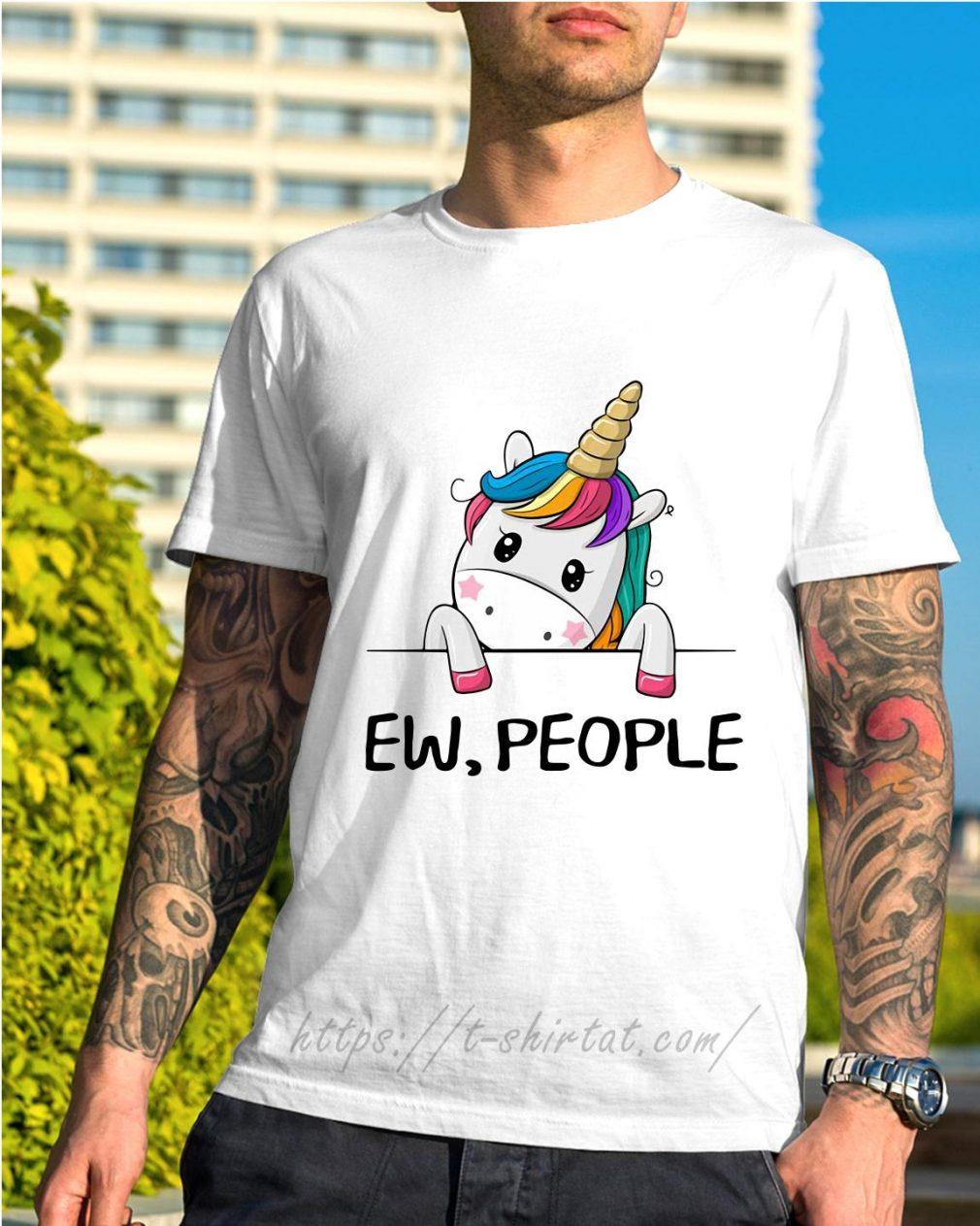 Unicorn rainbow ew people shirt