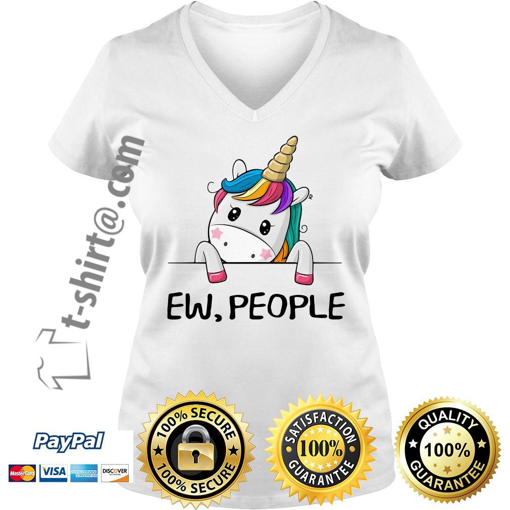 Unicorn rainbow ew people V-neck T-shirt