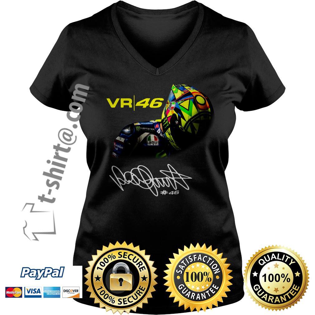 Valentino Rossi VR46 signature V-neck T-shirt