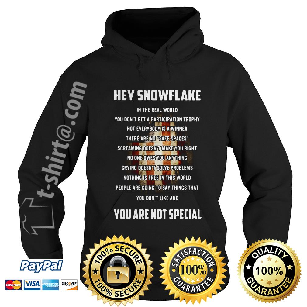 Veteran hey snowflake you are not special Hoodie
