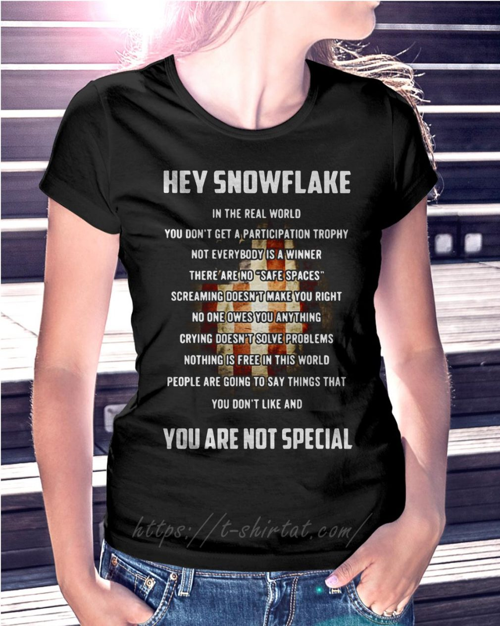 Veteran hey snowflake you are not special T-shirt
