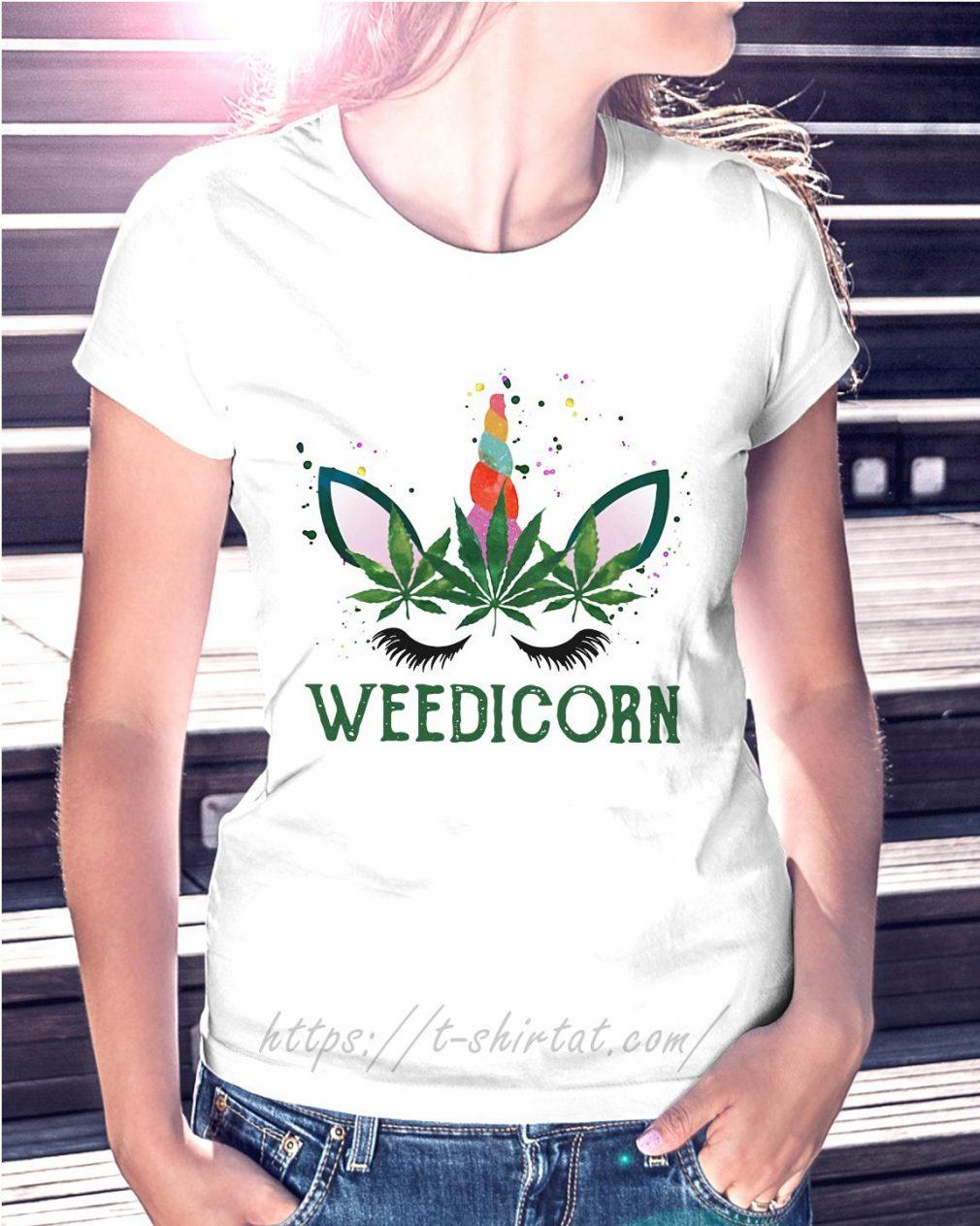 Weed unicorn Weedicorn Ladies Tee