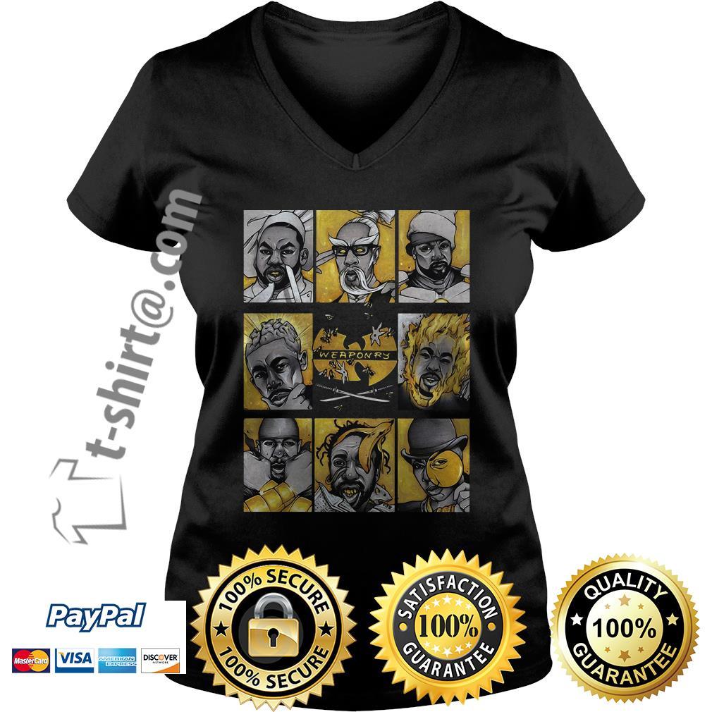 Wu-Tang clan weaponry V-neck T-shirt