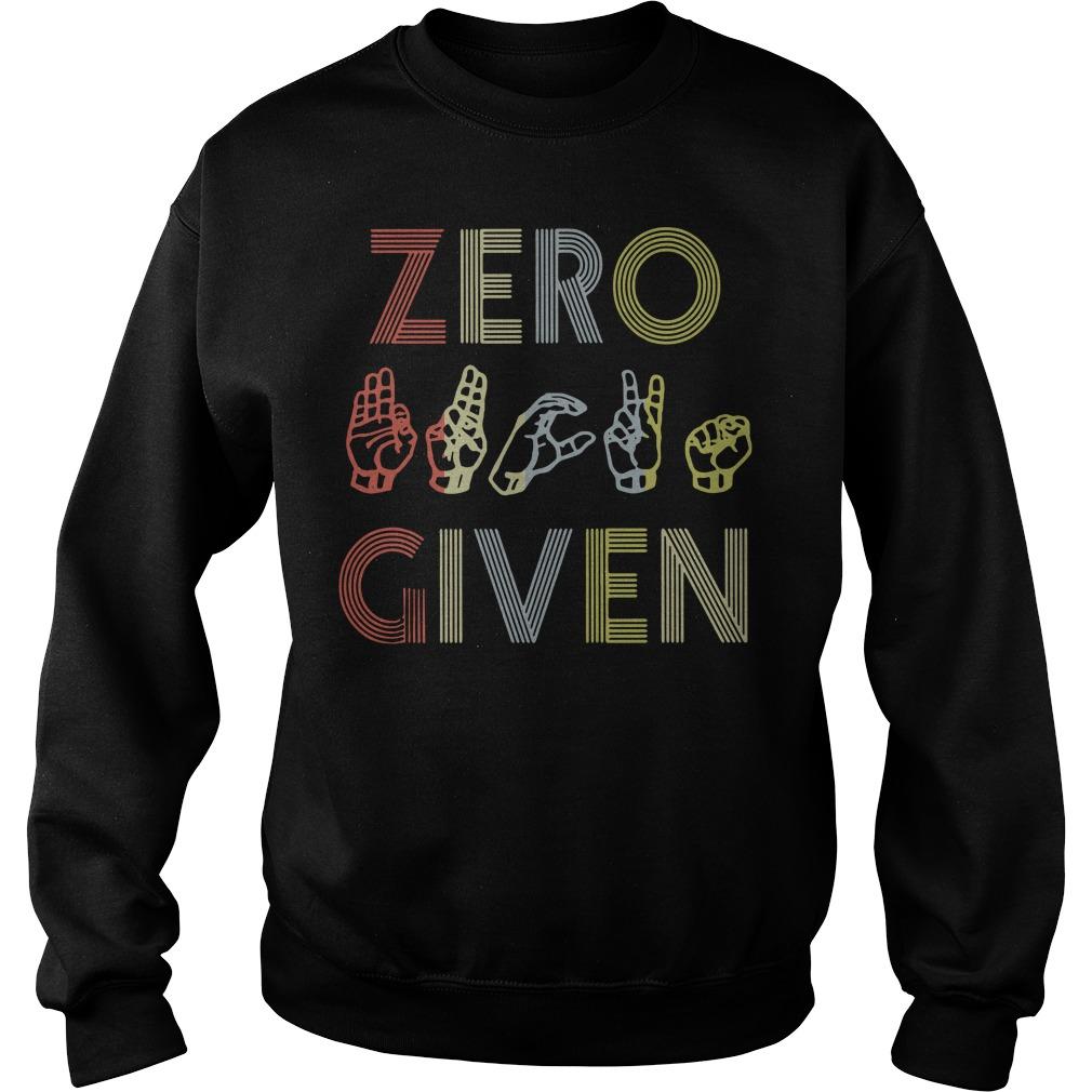 Zero fuck given American sign language vintage version Sweater