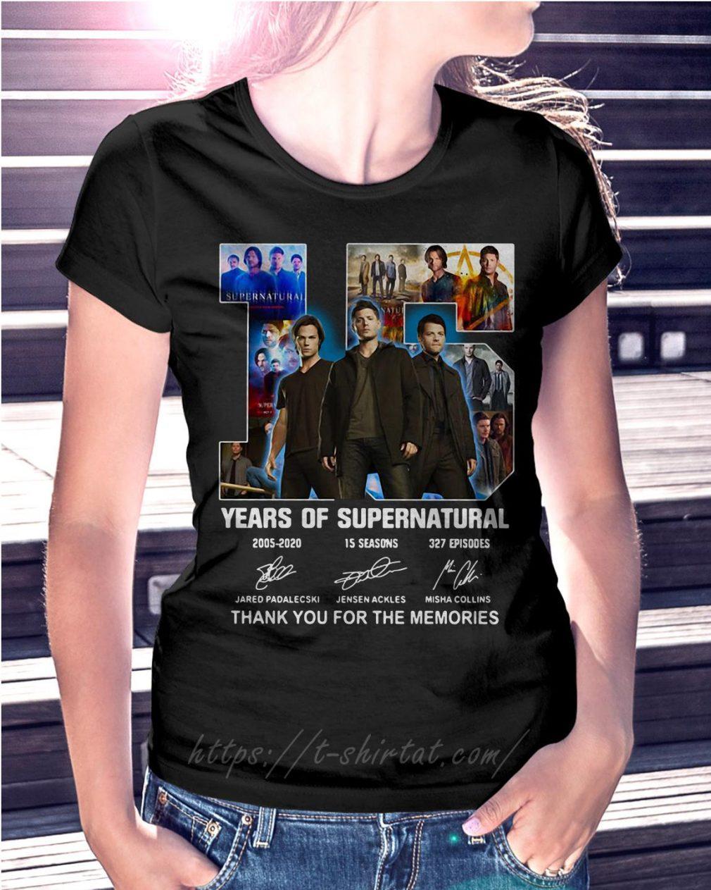15 Years of Supernatural Jensen Ackles Jared Padalecki Misha Collins thank you for the memories signature
